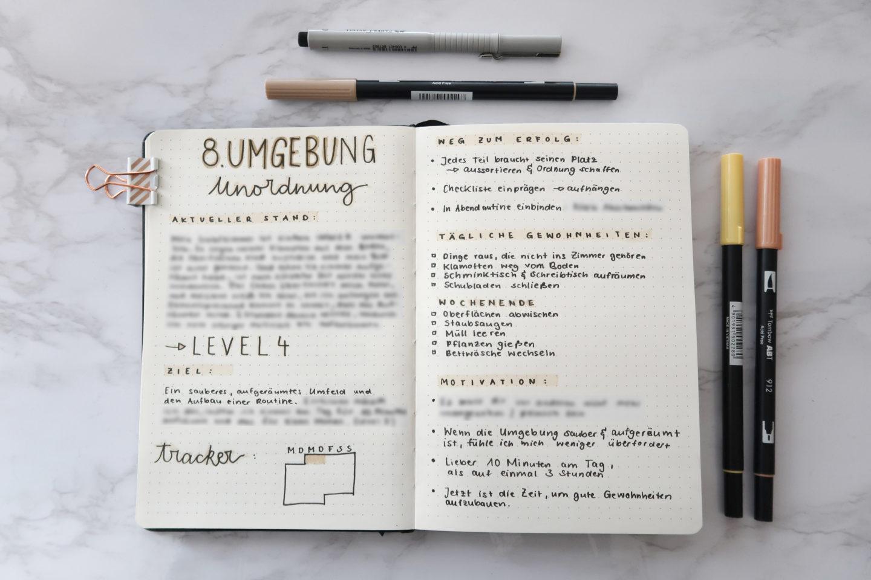 Umgebung, Notizbuch, Unordung