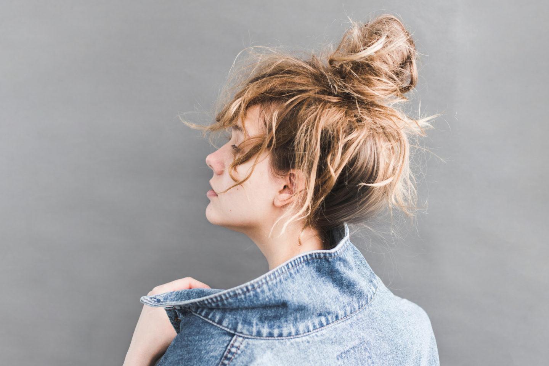 Haare, Frau, Zopf, unordentlich