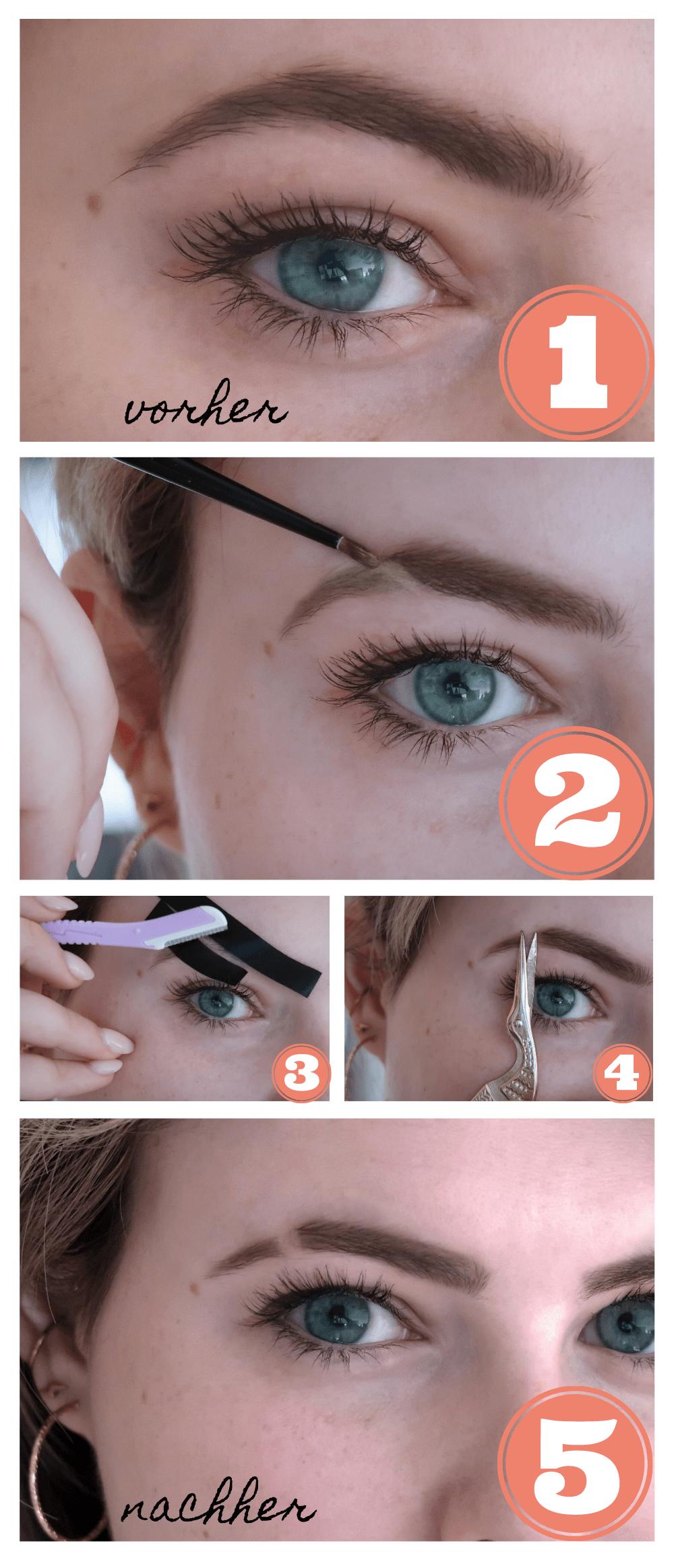 Anleitung Augenbrauenschlitz / Eyebrow Cut