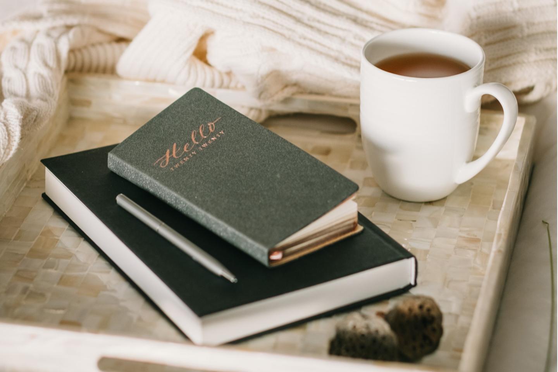 Terminplaner, Tablett, Kaffee