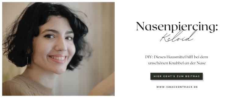 Nasenpiercing: Keloid